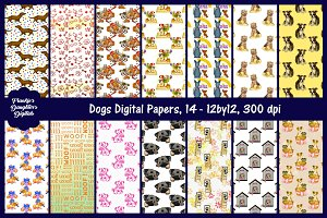 Doggies Digital Paper Pack