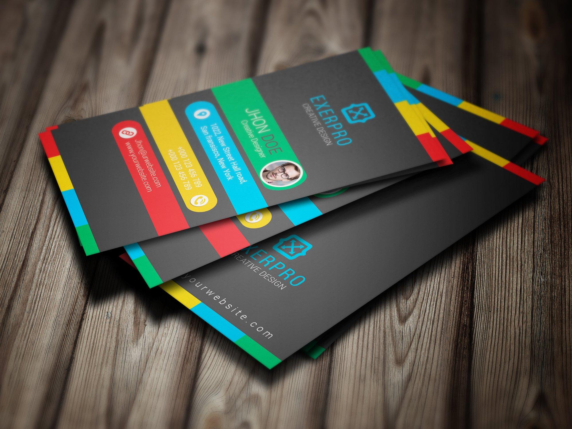 Vertical Business card   Creative Business Card Templates ...