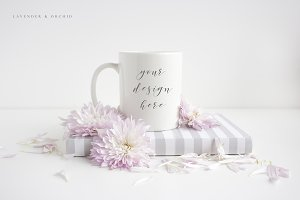 White coffee mug mockup