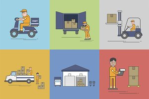 Illustration of logistics service