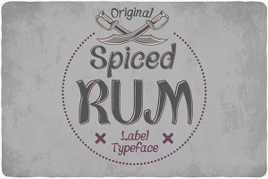 Spiced Rum Typeface