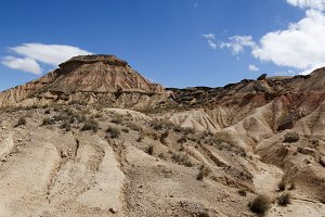 The desert of the bardenas reales