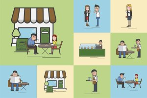 Illustration of coffee cafe vector