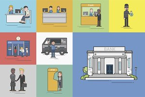 Illustration of finance vector set