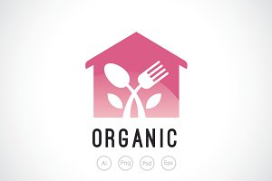 Organic Restaurant Logo Template