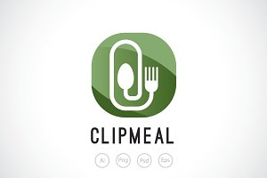 Clip Meal Logo Template