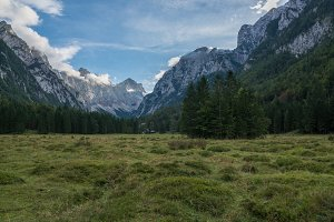 Mountains and forest of Krma valley