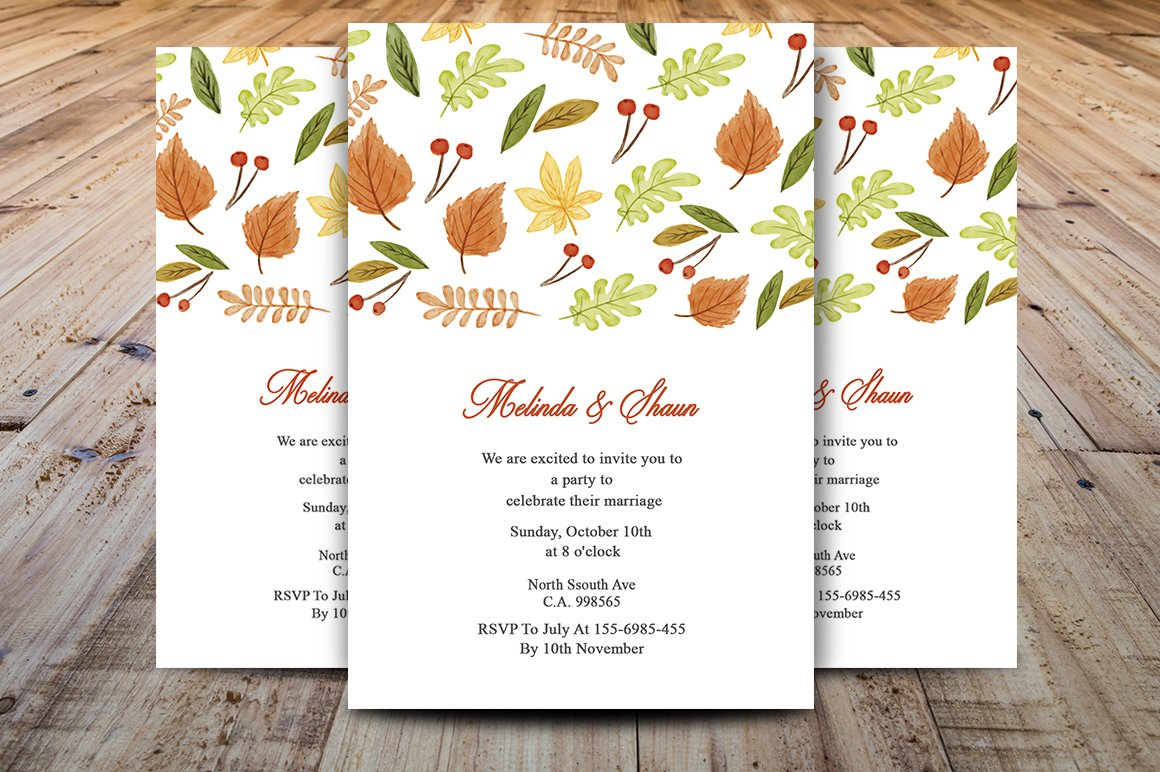 Autumn / Thanksgiving Invitation ~ Invitation Templates ~ Creative ...