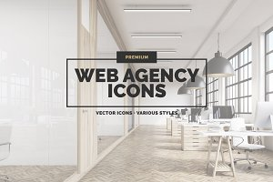 22 Web Agency Icons in 3 styles