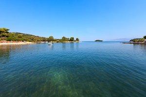 Summer Albania coast landscape