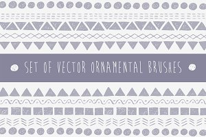 Vector Pattern Brushes Set