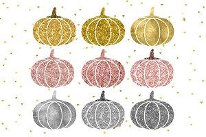 Gold pumpkin clip art