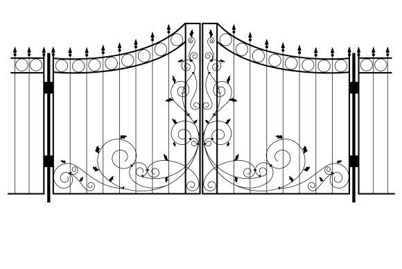 Vector Iron Gate ~ Illustrations ~ Creative Market