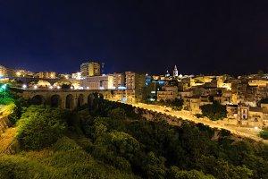 Night Ragusa town view, Sicily