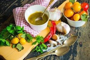 Georgian cuisine - tkemali sauce