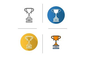 Winner's trophy cup icon