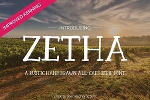 Zetha - a Hand Drawn Serif Font