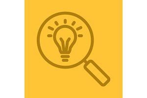 Idea search color linear icon