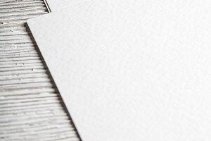 White blank paper page closeup