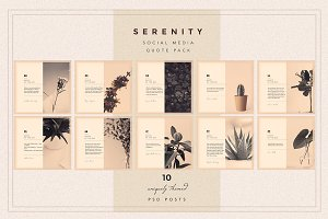 SERENITY Social Media Quote pack
