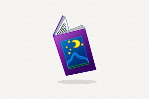♥ vector cartoon open book