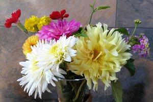 Summer flower bouquet