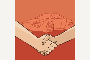 Handshake with car