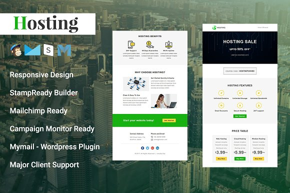 Hosting Responsive Email Template