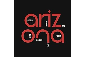 Arzona state. T-shirt and apparel vector design, print, typograp
