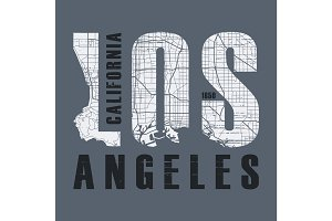 Los Angeles t-shirt and apparel vector design, print, typography