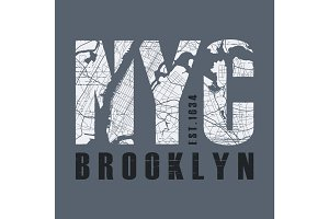 New Tork Brooklyn t-shirt and apparel vector design, print, typo