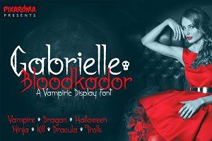 Gabrielle Bloodkador Font