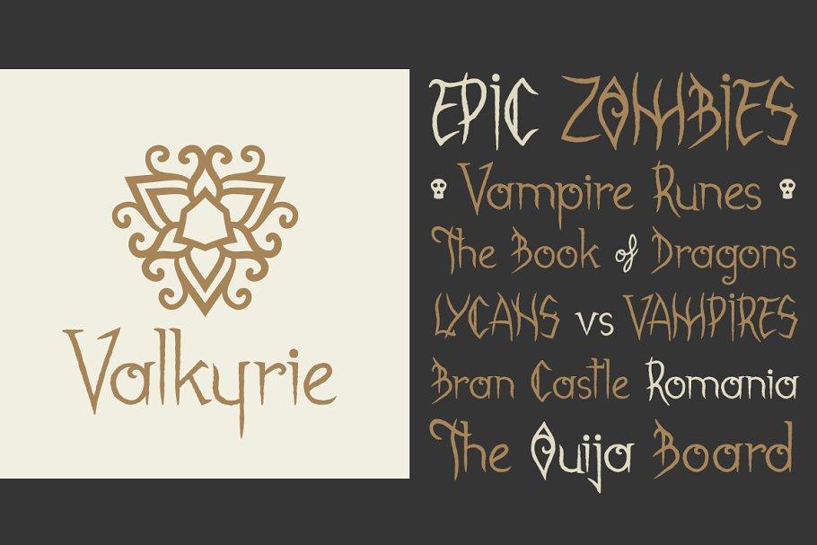 Best Gabrielle Bloodkador Font Vector