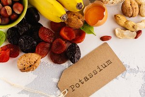 Food containing potassium