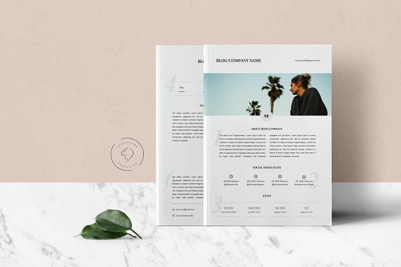 Media Kit Template - 2 Pages in Templates