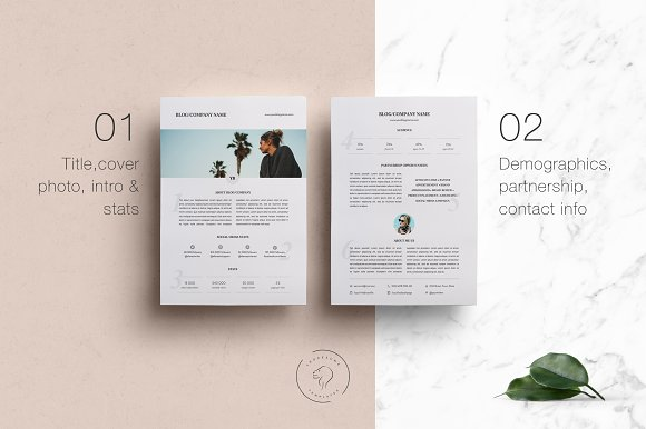 Media Kit Template - 2 Pages in Templates - product preview 1