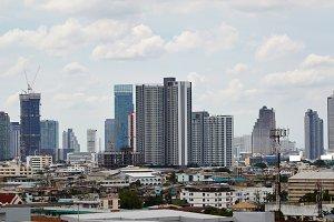 Panoramic view of urban landscape in Bangkok