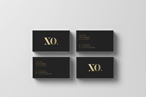 XQ - Black x Gold Business Card