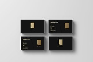SAVAX - Black x Gold Business Card