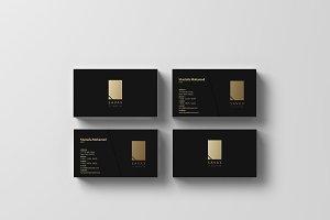 SAVAX - Black x Gold Business Card
