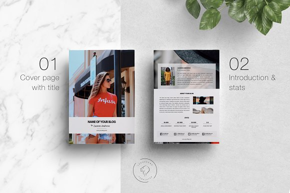 Media Kit & Ad Rate Sheet - 4 Pages in Templates - product preview 1