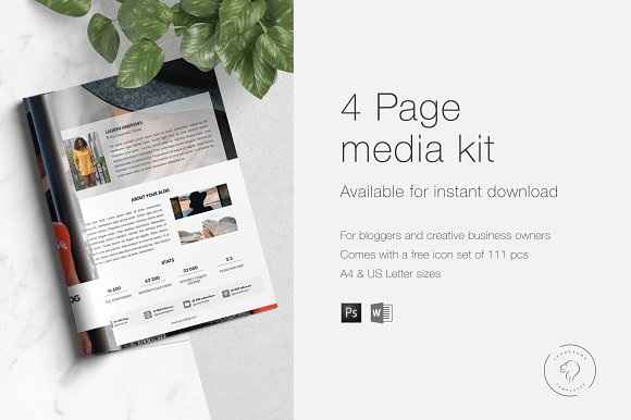Media Kit & Ad Rate Sheet - 4 Pages in Templates - product preview 3