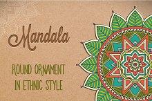Mandala. Ornament in ethnic style