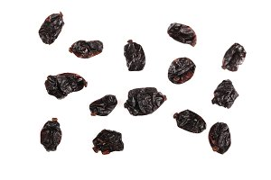 Barberry seeds isolated on white background top view