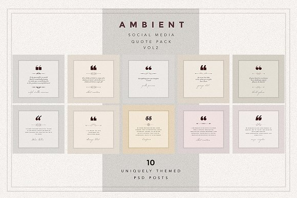 AMBIENT VOL2 Social Media quote pack