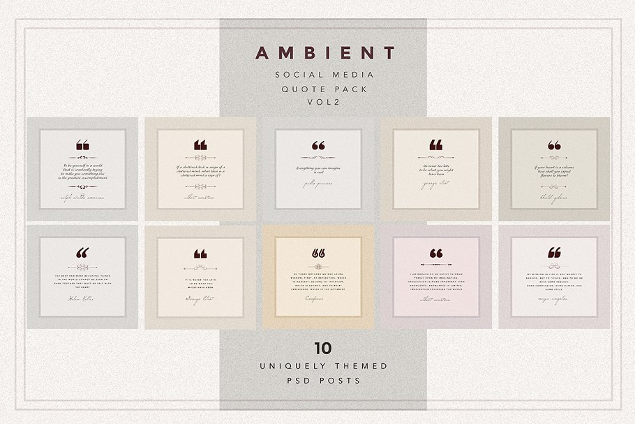AMBIENT VOL2 Social Media quote pack in Instagram Templates - product preview 8
