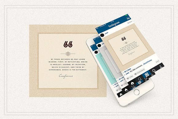 AMBIENT VOL2 Social Media quote pack in Instagram Templates - product preview 6