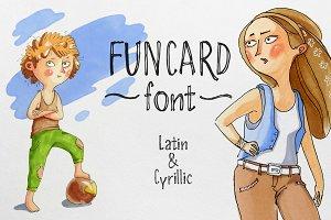 Funcard font Latin & Cyrillic