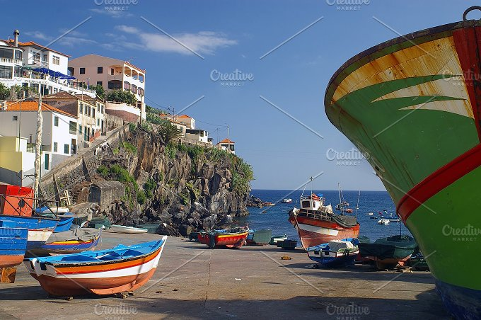 View of Madeira.Camara de Lobos - Nature