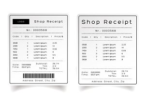 Shop Receipt template vector